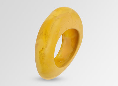 Large Resin Rock Bangle - Honeycomb