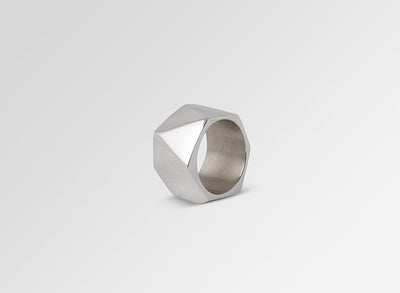 Shifting Planes Band Ring - Sterling Silver
