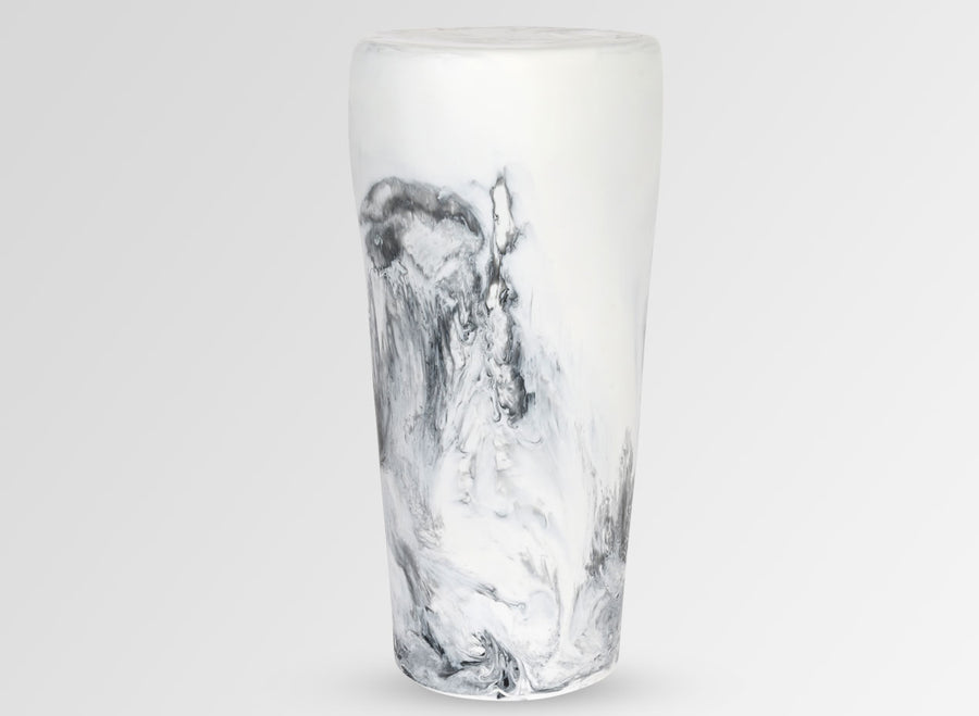 Boulder Side Table - White Marble
