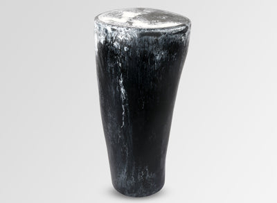 Boulder Side Table - Black Marble