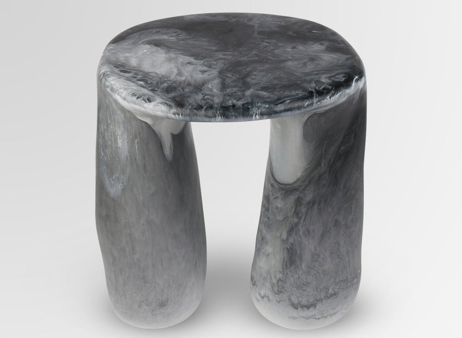 Resin Rock Tower Table - Abalone