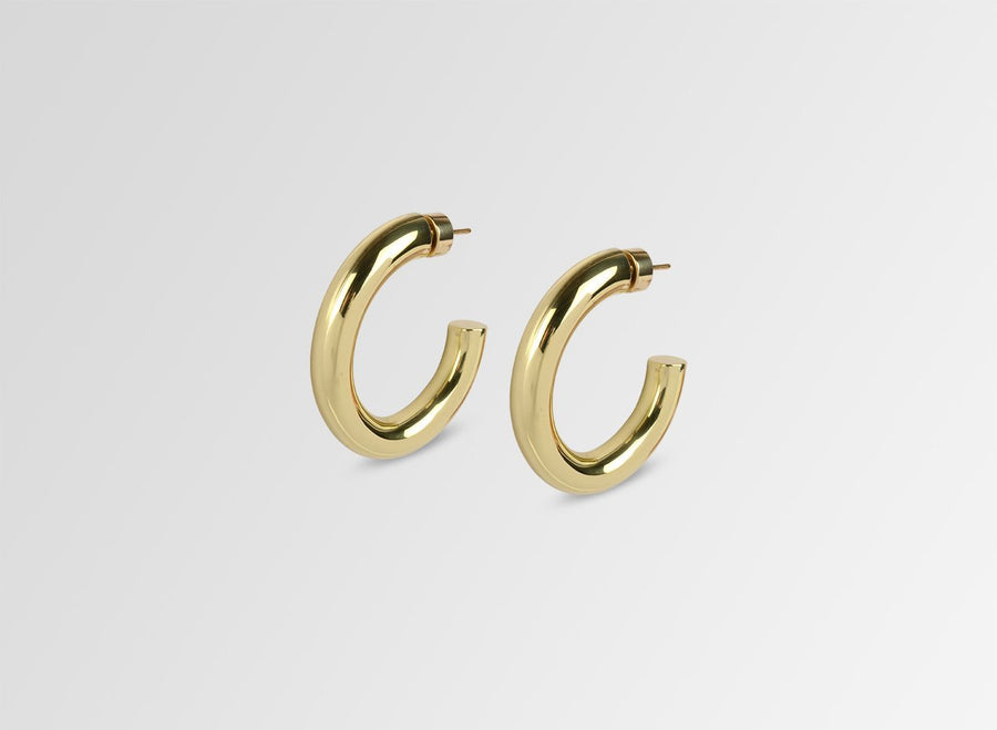 Louise Olsen Medium Bold Sade Hoop Earrings- Brass