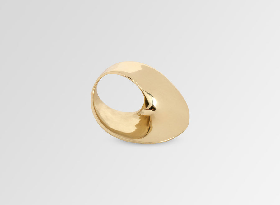 Louise Olsen Medium Infinity Ring - Brass