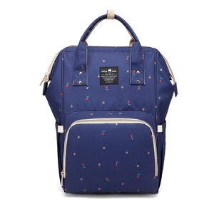 A Top Selling Nappy Backpack- Navy Flower