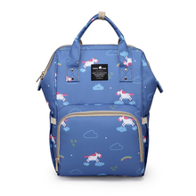 A Top Selling Nappy Backpack- Blue Unicorn