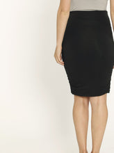"Angel Maternity ""The Rouched"" Maternity Bamboo Skirt- Black"