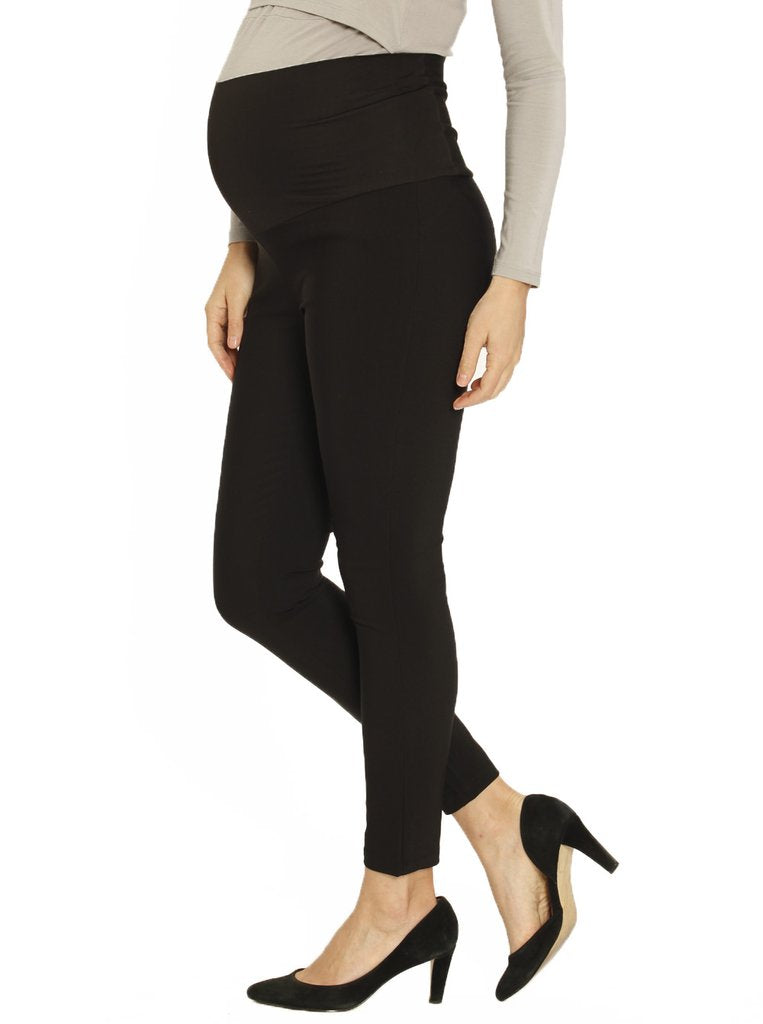 Angel Maternity Fitted Work Pants in Black