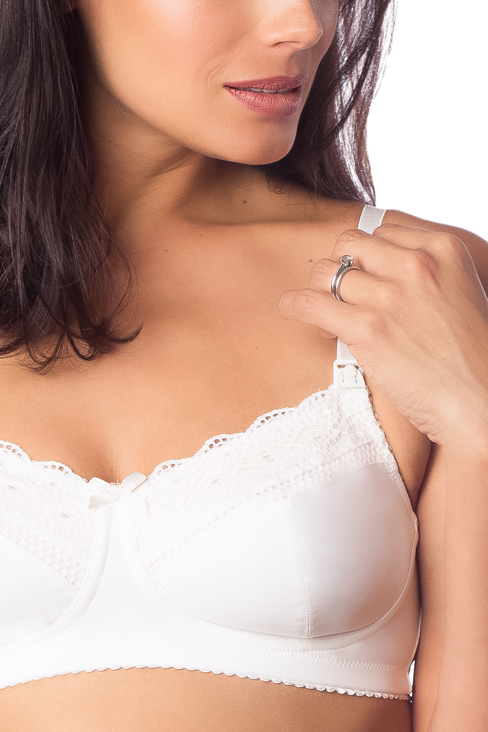 HOTMILK SHOW OFF IVORY NURSING BRA - WIREFREE