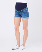 Ripe Maternity Denim Shorty Shorts