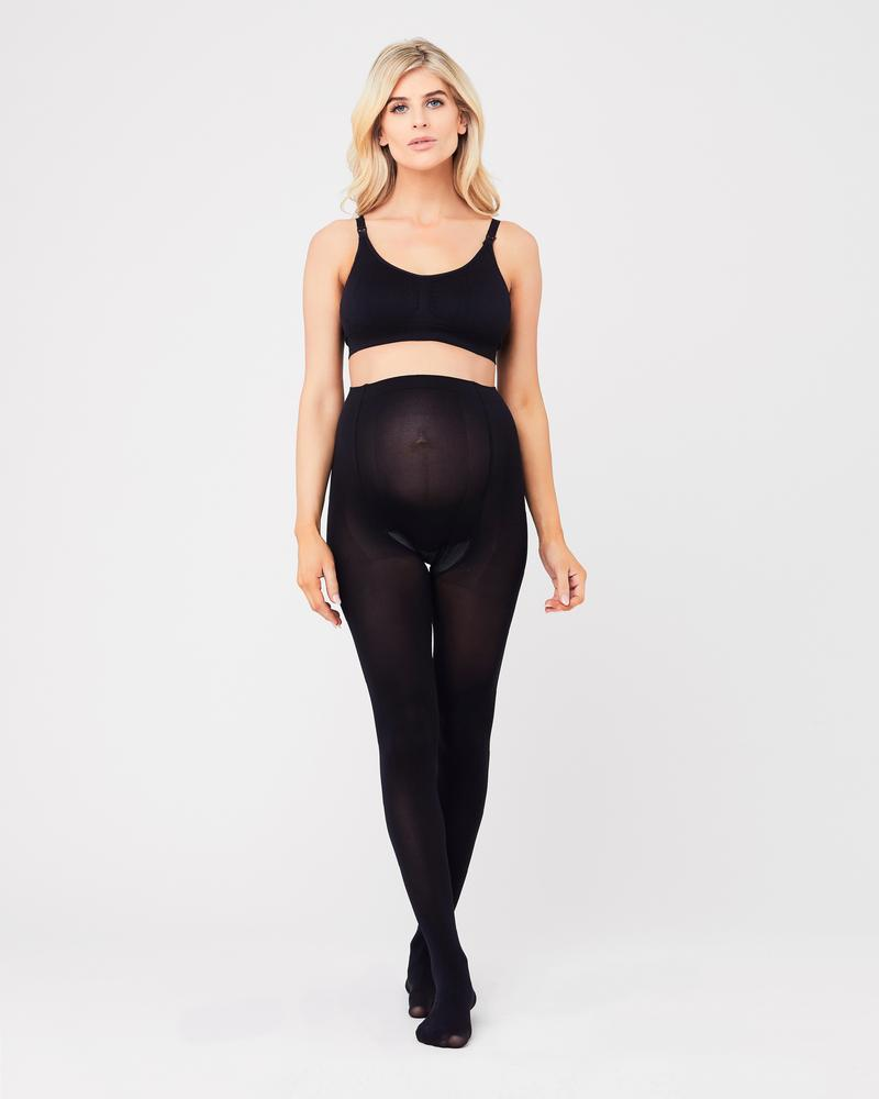 Ripe Opaque Maternity Tights Black