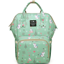 A Top Selling Nappy Backpack- Green Unicorn