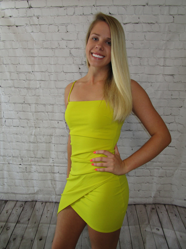 Lemon Squeeze Mini Dress