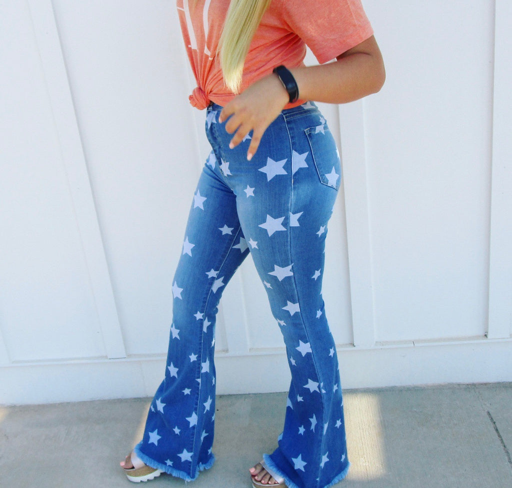 Star Bell Bottom Jeans