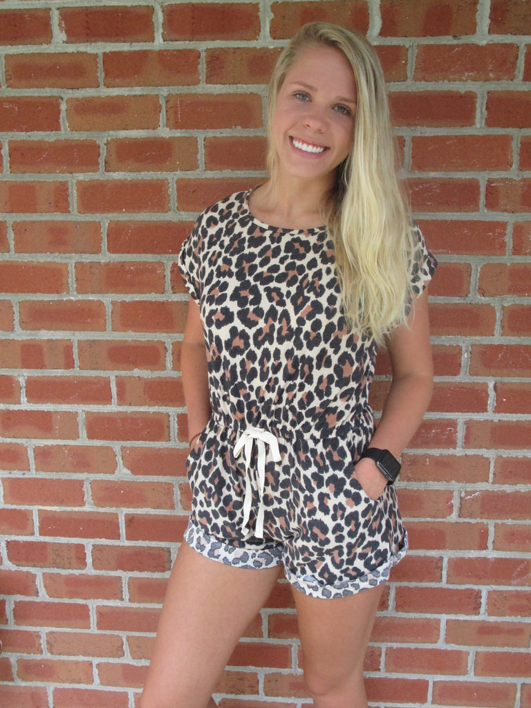 Cozy Cheetah Romper