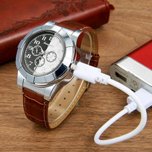 Montre Briquet USB Rechargeable Marron