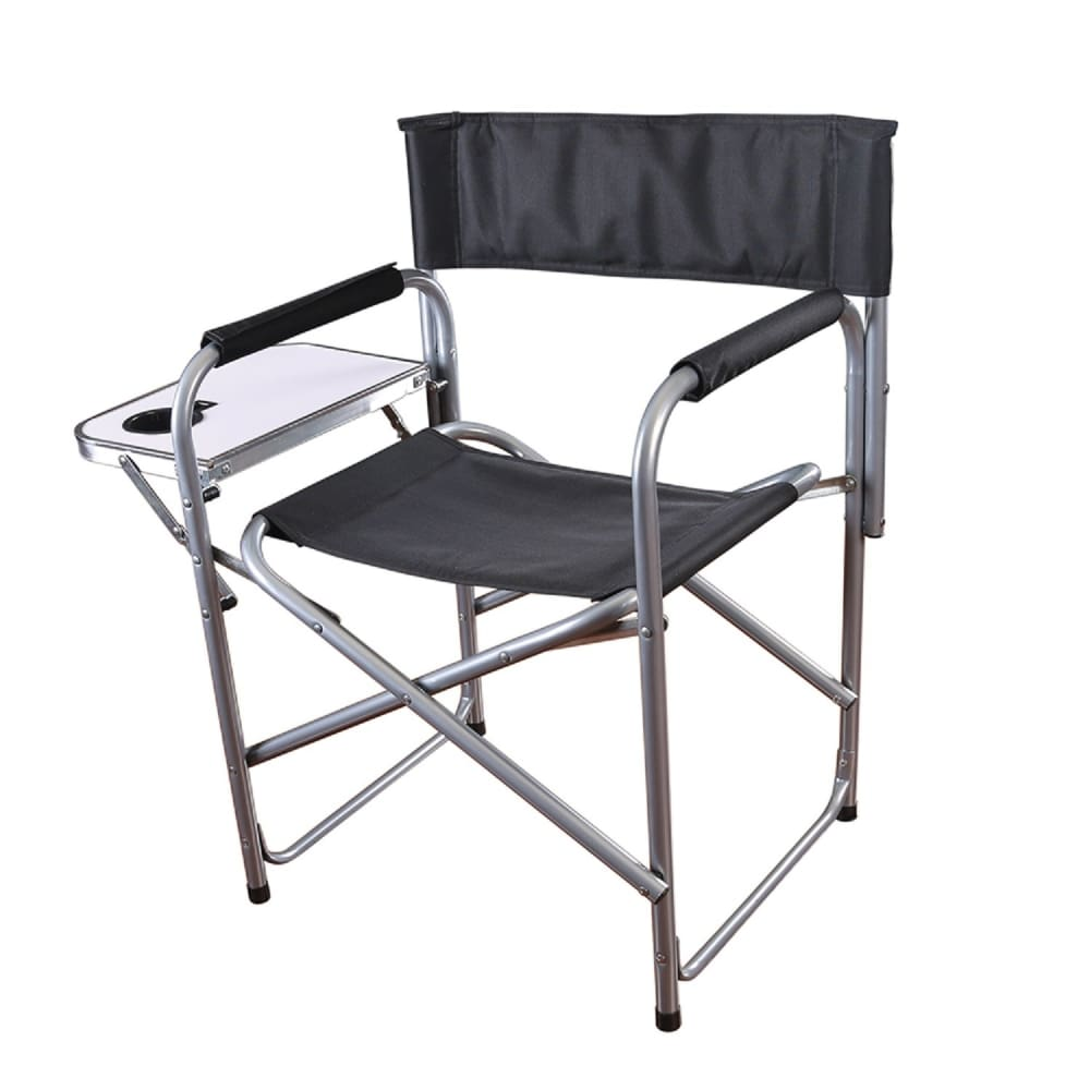 Pleasing Stansport Folding Directors Chair With Side Table Ocoug Best Dining Table And Chair Ideas Images Ocougorg
