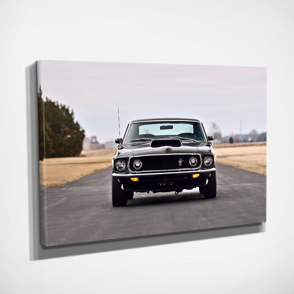 1969 Ford Mustang - Framed Canvas Art Print