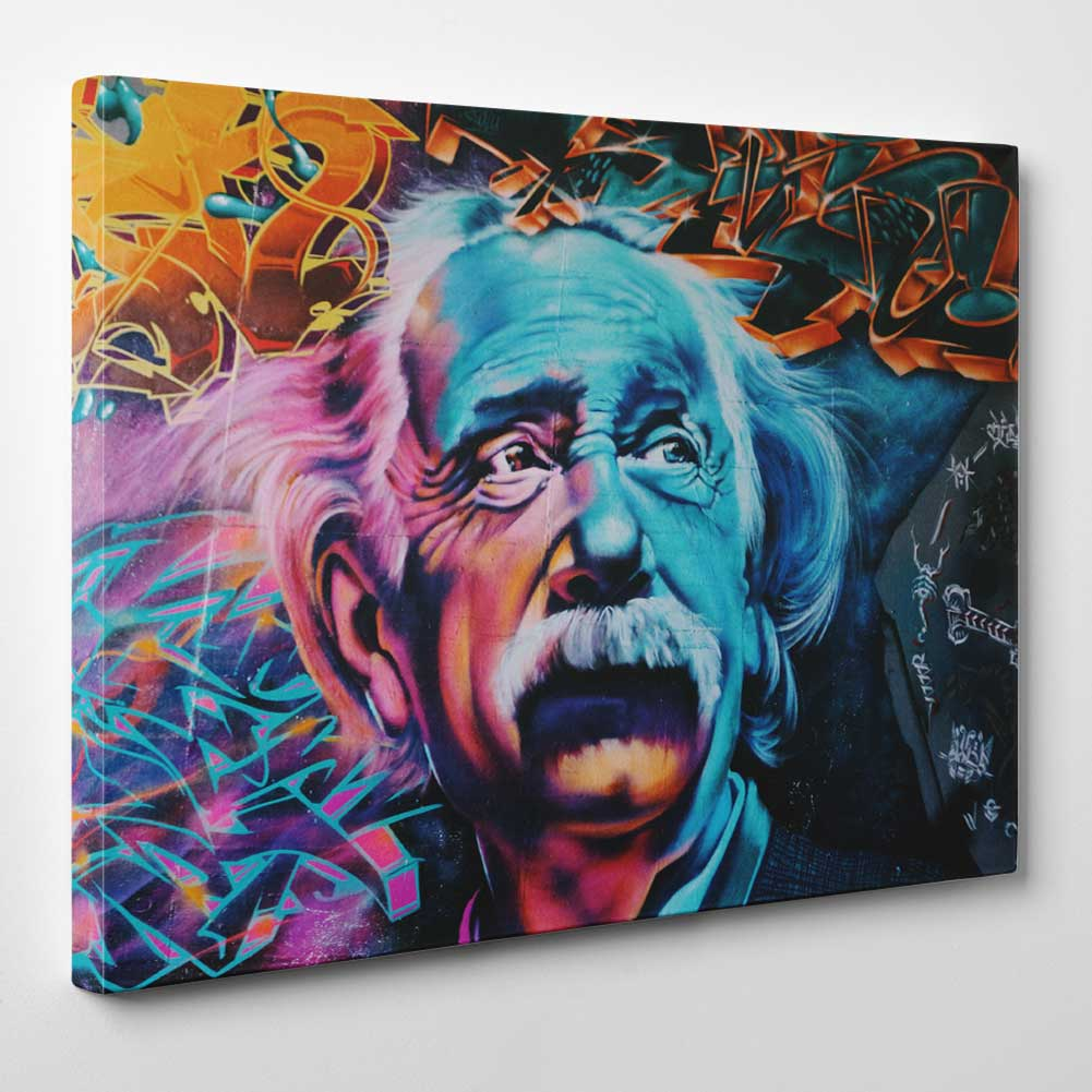 Albert Einstein Graffiti Canvas