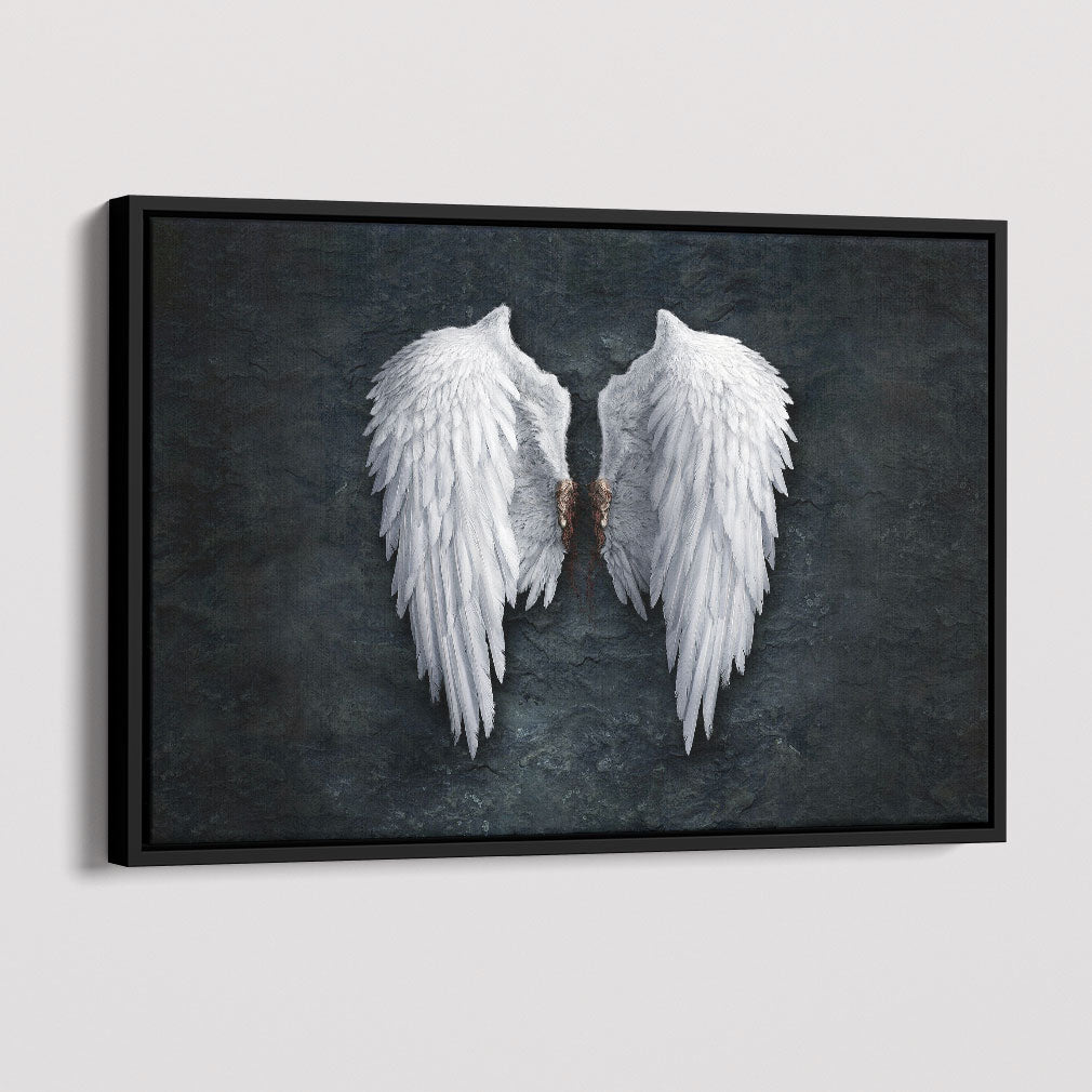 Angel Wings – Framed Canvas Art Print
