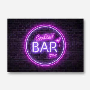 Neon Cocktail Bar Sign Print