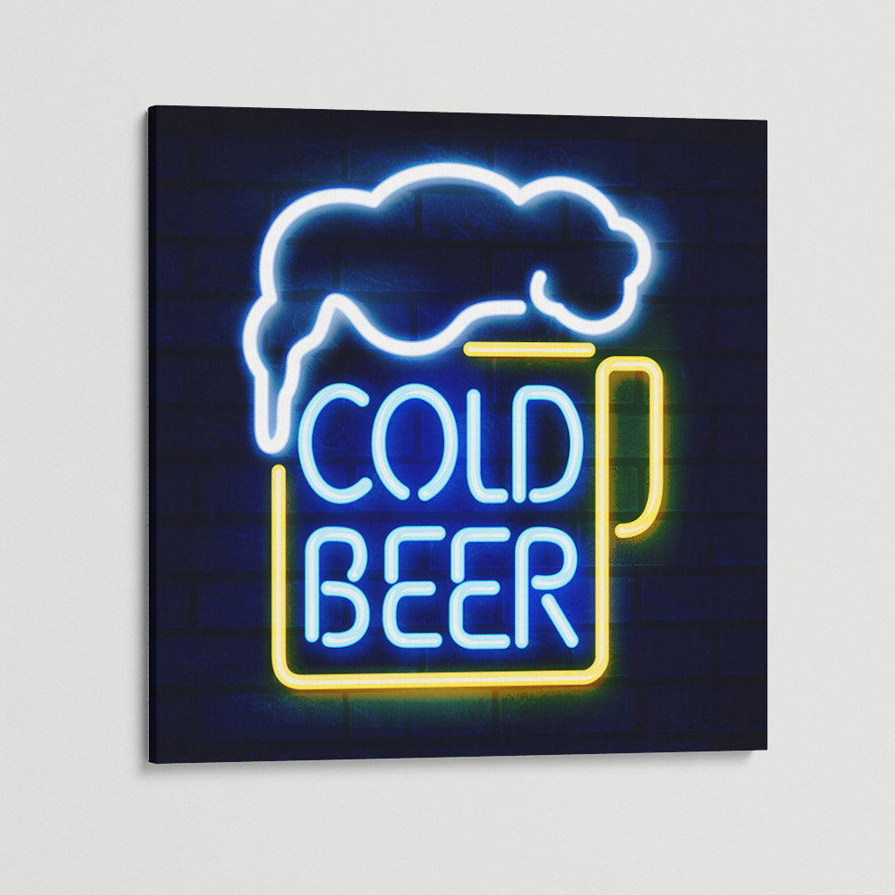 Cold Beer Square Canvas