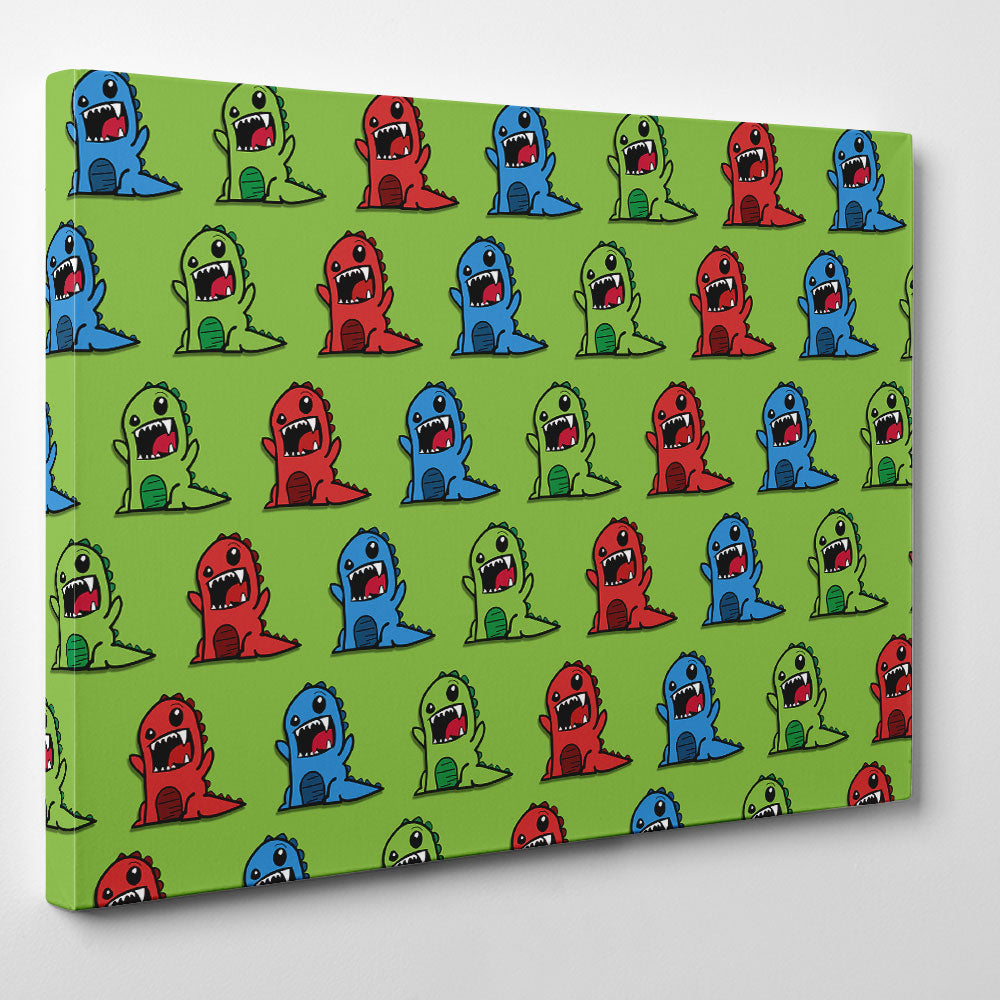 Colourful Monsters Canvas