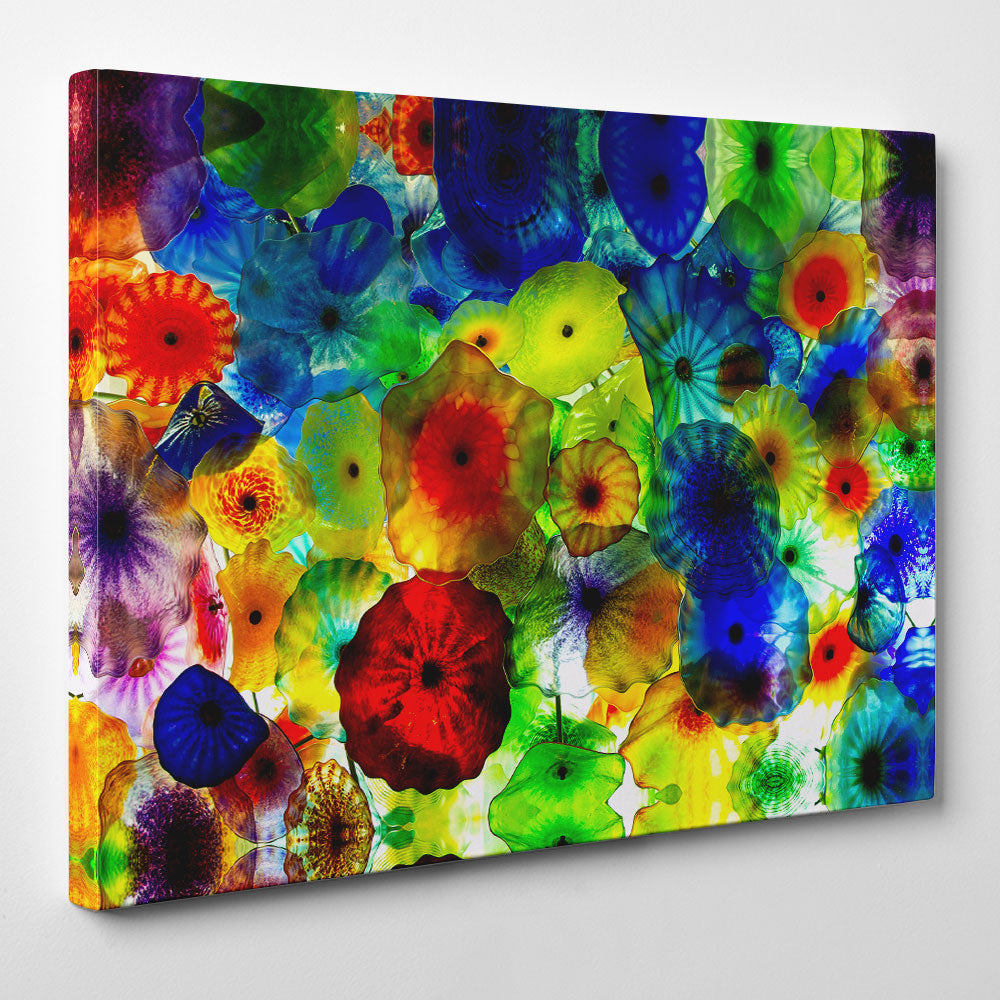 Colourful Stained Abstract Canvas