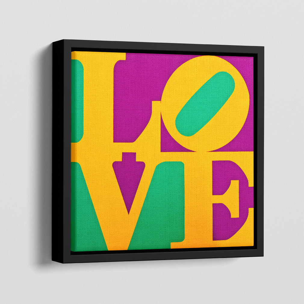 Love Square Canvas