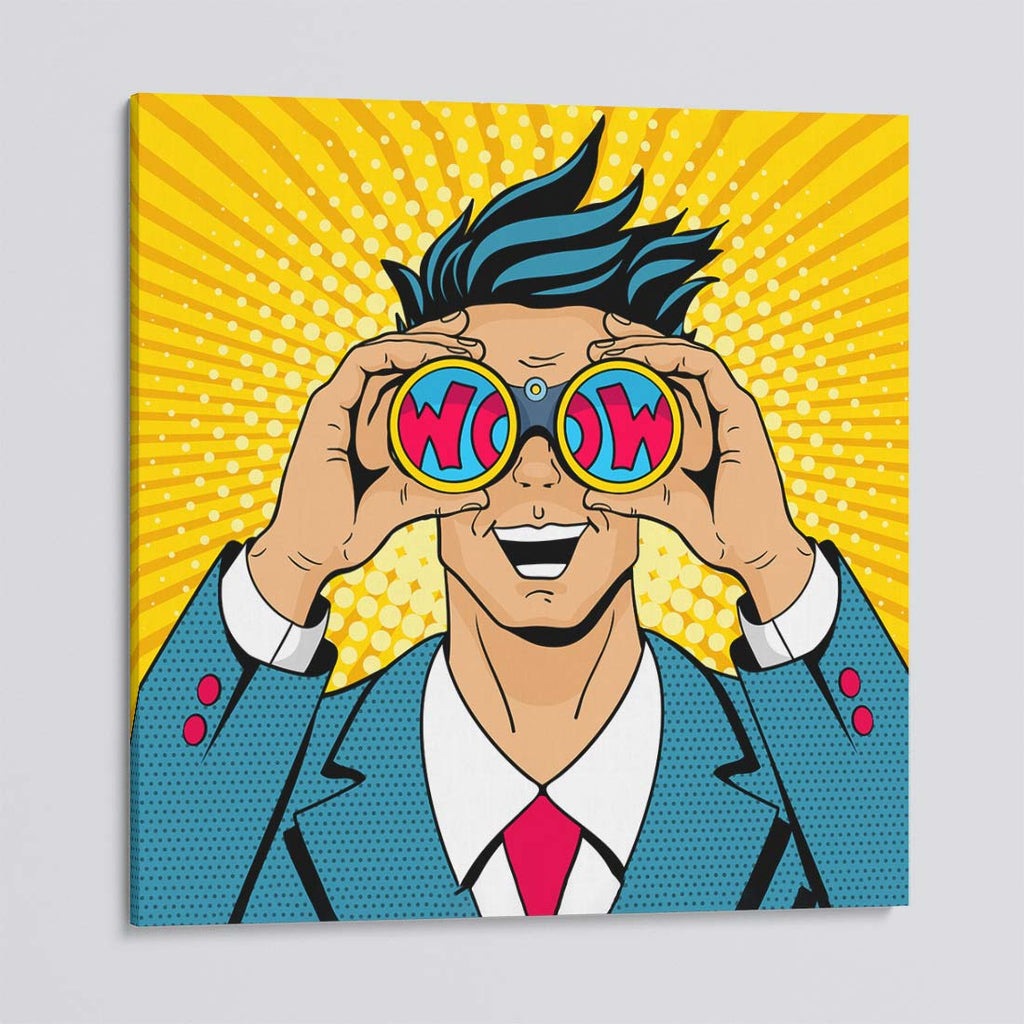 WOW Guy Pop Art Canvas