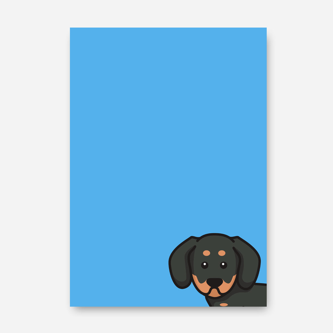 Peeking Sausage Dog Blue Print
