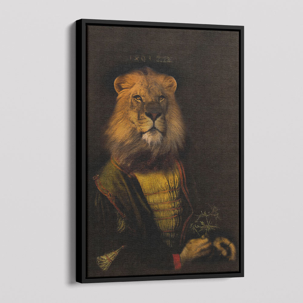 Victorian Lion Portrait Canvas