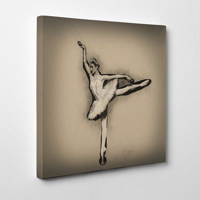 Ballerina Dancer Canvas