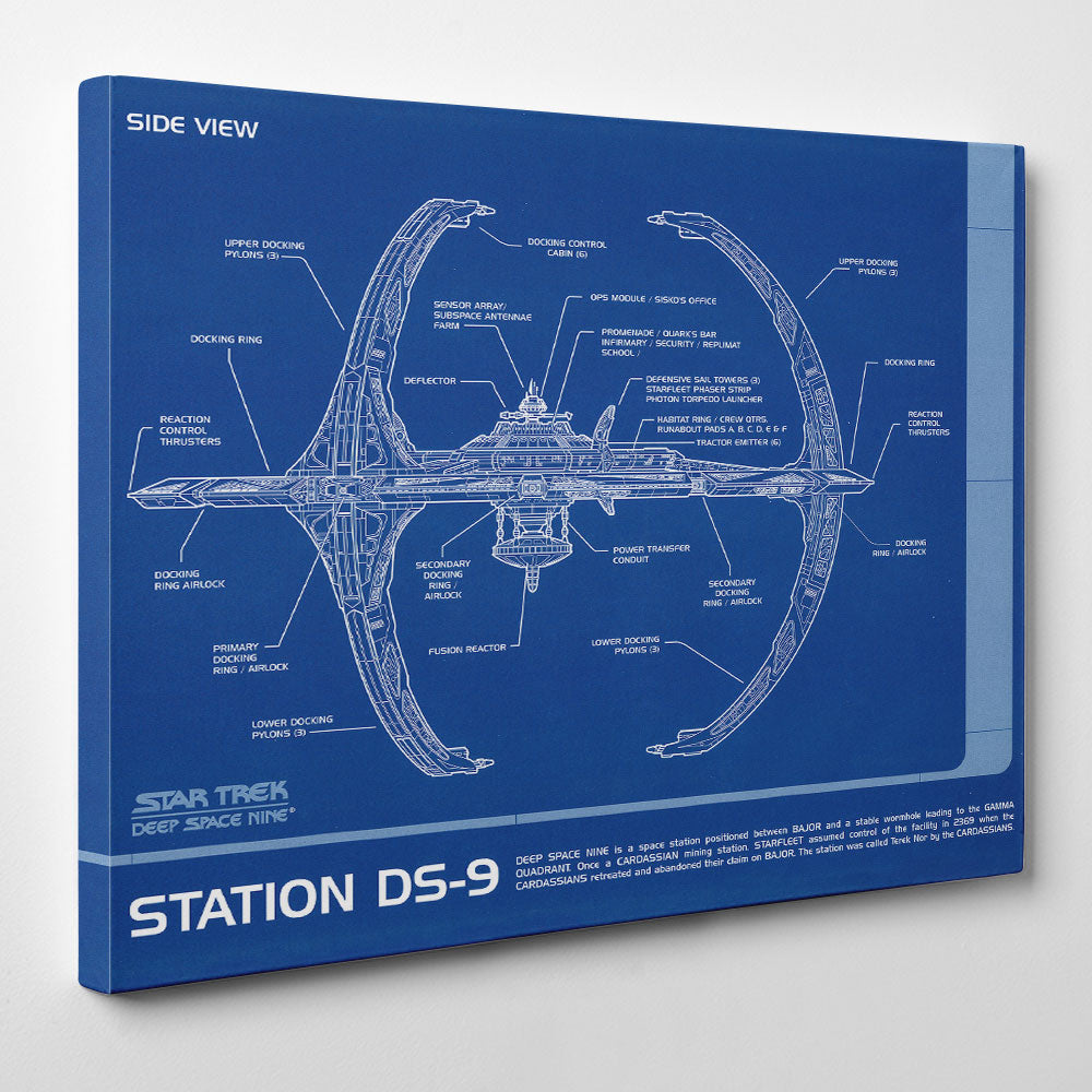Station DS-9 Blueprint Canvas