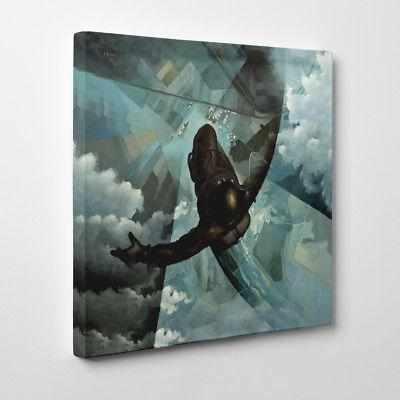 Before the Parachute Opens Tullio Crali Framed Canvas