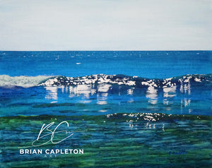Play of Light on the Water at Poldhu Cove - Brian Capleton Art