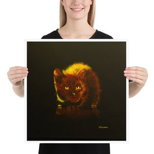 Kitten in Yellow Light - Brian Capleton Art