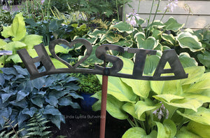 Metal HOSTA Heart Sign