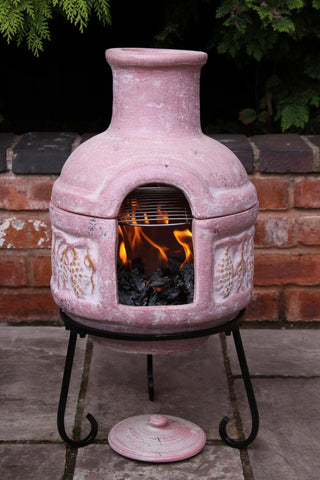 Gardeco - Colima Extra-Large Red Glaze Chiminea