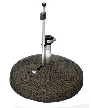 Liro Polyrattan Patio Parasol Base - Fixed Clamp - 35kg