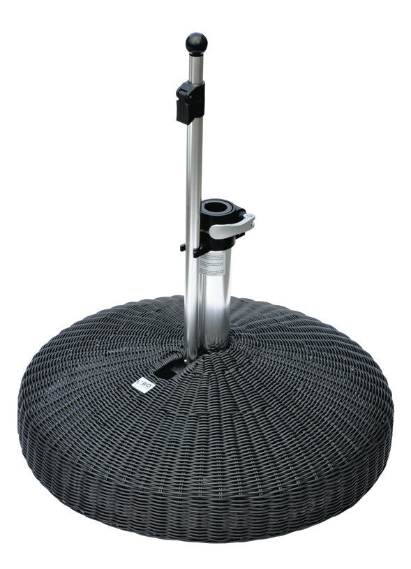 Liro Polyrattan Patio Parasol Base - Fixed Clamp - 60kg
