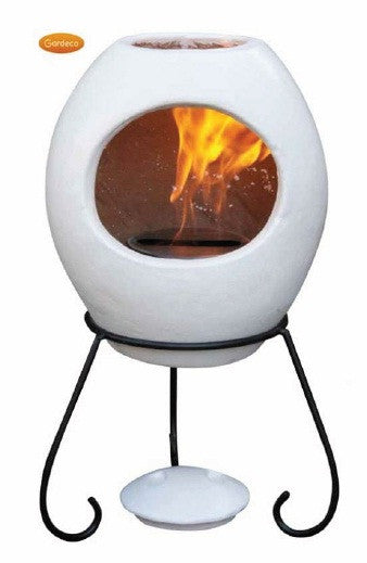 Gardeco - Ellipse Medium Beige Round Chiminea