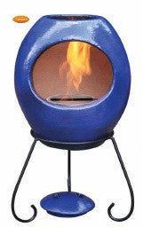 Gardeco - Ellipse Medium Blue Round Chiminea
