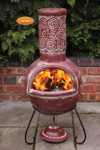 Gardeco - Espiral Large Red Chiminea