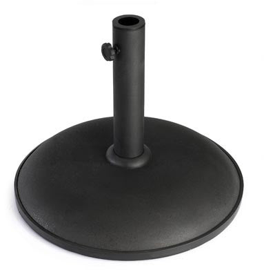 Black Parasol Base – Concrete
