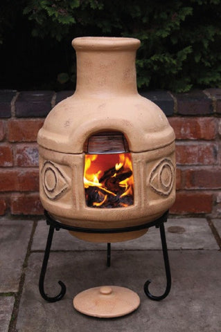 Gardeco - Rosas Large Cranberry & Black Chiminea