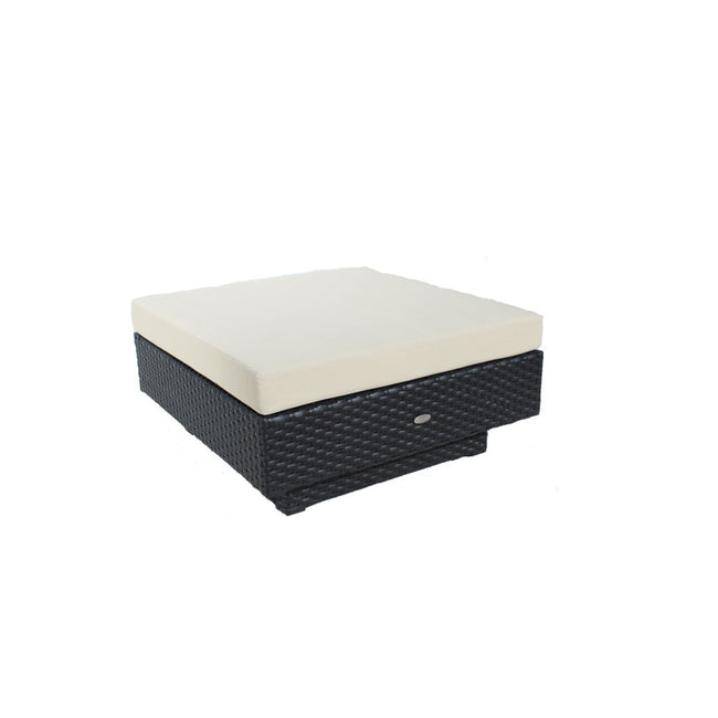 Chicago Cozy Bay Black Super Weave Ottoman