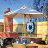 Cozy Bay 2m Round Wooden Pulley Parasol - Cream...