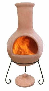 Gardeco - Extra-Large Colima natural terracotta Chiminea