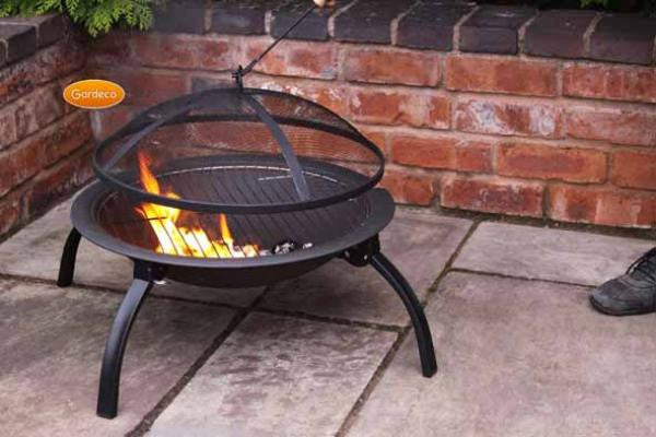 Gardeco - Lucio Portable Folding BBQ Fire Bowl