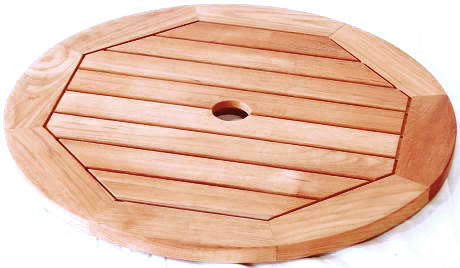 Royalcraft Teak Lazy Susan with Aluminium Ring